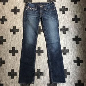True Religion Low Rise Straight Jeans